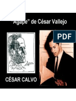 Agape - de César Vallejo en la voz de César Calvo - poema