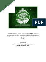 coterc 2010 green and hawksbill technical report