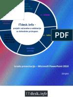 Microsoft PowerPoint 2010s  Skripta