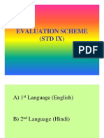 Evaluation Scheme Std IX