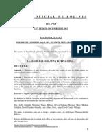 Ley 329 Declaración al mes de marzo de cada año, como el mes de lucha contra las enfermedades renales en Bolivia