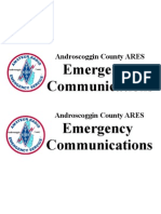ARES Emergency Communications Placard 2page