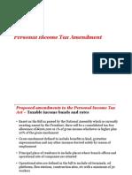 PIT and ITF Amendments