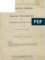 Special Attachments Farmall A B Tractors