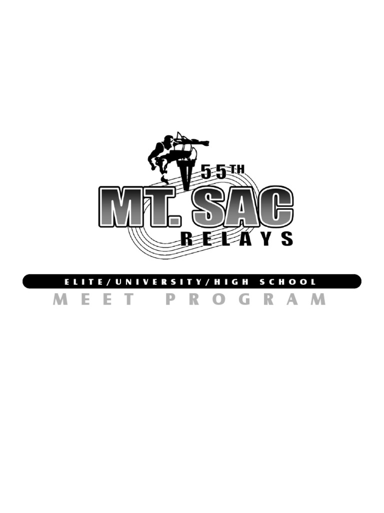 Heat Sheets 2013 Mt Sac Relays