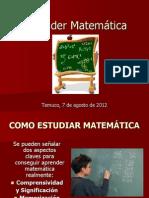 Cómo aprender Matemática