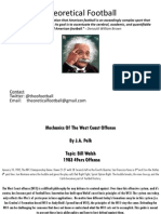 Mechanics of the West Coast Offense -Topic Bill Walsh 1983 49ers Offense