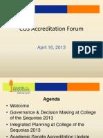 April 16 Accreditation Forum PowerPoint