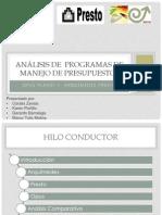 Análisis de  programas de Manejo de Presupuestos