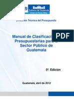 Manual de Clasificacion Presupuestaria 5ta Edicion