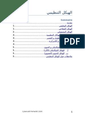 نموذج هيكل تنظيمي فارغ Doc