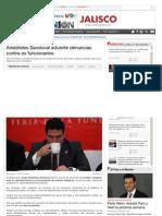 20-03-2013 Aristóteles Sandoval advierte denuncias contra ex funcionarios