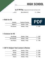 2013 Summer II Schedule Cresskill - HS (Rev.0)