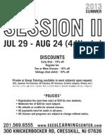 2013 Summer II Schedule Cresskill - FRONTPAGE (Rev.1)