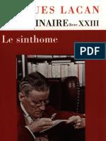 Jacques Lacan - Le séminaire de Jacques Lacan, Livre 23, Le sinthome [Seuil,2005]