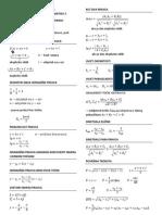 MATEMATIKA 3 - formule - pravac i kružnica