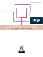 Informe CEPAL Inversion Extranjera en AL 2008