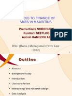 Access to Finance of SMEs in Mauritius - Group Dissertation