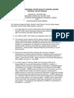 California RWQCB Dairy General Order Revision r5-2009-0029