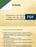 Class Rules 2013 FIRST Semester