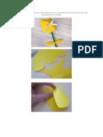 Acompanhe as imagens do passo a passo abaixo e veja como é fácil fazer este lindo cartão tulipa para presentear a mamãe