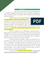 Lingua Portuguesa - Ortografia Oficial