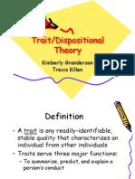 Trait Personality Theory