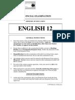 April 1999 English 12 BC Provincial Exam