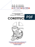 Constitucion de la Ecclesia Gnostica Arcana