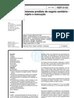 Abnt - Nbr 8160 - Sistemas Prediais de Esgoto Sanitario - Projeto E Execucao