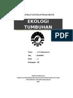 laporan ekologi tumbuhan