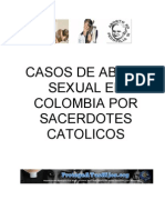Casos de Abuso Sexual en Colombia por Sacerdotes Catolicos - Abril 2013