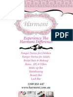 Harmoni Berwick Leaflet