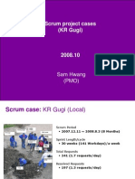 Scrum project case in Yahoo Korea (야후 거기 스크럼 프로젝트)