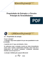 Propriedades Da Entropia e o Terceiro Principio Da Termodinamica