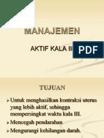Manajemen Aktif Kala III Power Point