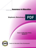 Quality Assurance in Education 2008