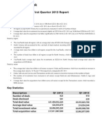 Quarterly Report Q1 2013