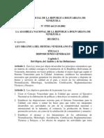 Ley Orgánica del Sistema Venezolano para la Calidad