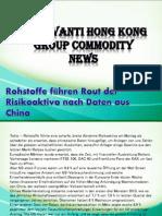 Rohstoffe führen Rout der Risikoaktiva nach Daten aus China