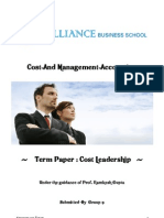 Cost leadership term paper