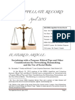 The Appellate Record - April 2013