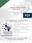 Government Regulatory Agencies- HHS