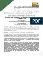Reglamento Interior de La SAGARPA