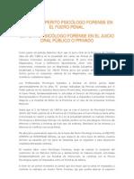 ROLES DEL PERITO PSICÓLOGO FORENSE EN EL FUERO PENAL