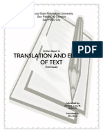 Translation and Editing of Text