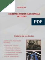 Capitulo 4 Conceptos Basicos Para Sistemas de Costeo