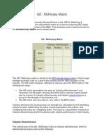 GE - McKinsey Matrix