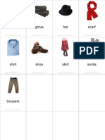 Flashcards Clothes Pinyin