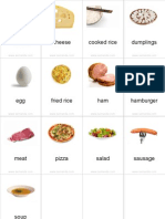 Flashcards Food Pinyin